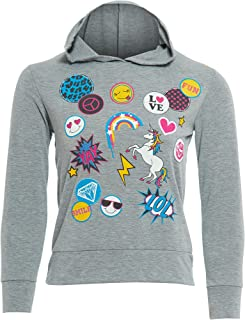 GUBA® Girls Unicorn Emoji Smiley Fairytale Long Sleeve Summerwear Top Hoodie Size 7-13 Years