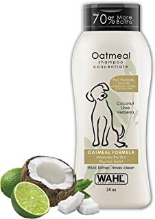 Wahl Dry Skin & Itch Relief Pet Shampoo for Dogs – Oatmeal Formula with Coconut..