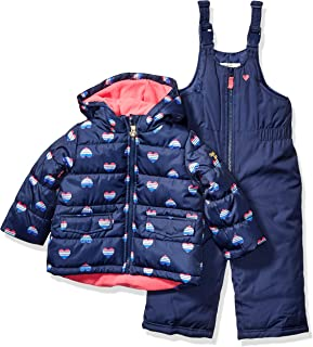 Girls' Ski Jacket and Snowbib Snowsuit Outfit Set