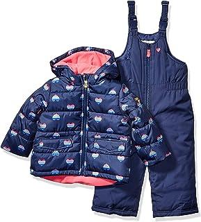 Girls' Ski Jacket and Snowbib Snowsuit Outfit Set