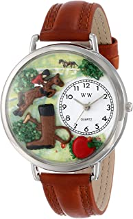 Whimsical Watches Unisex U0810020 Horse Competition Tan Leather Watch