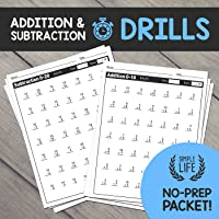 Addition & Subtraction Timed Drills: No Prep Printable Worksheets