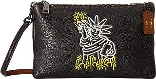 COACH Womens Keith Haring Pebbled Leather Lyla Crossbody