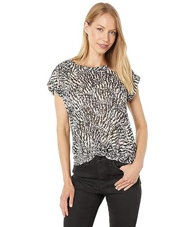 Vince Camuto Short Sleeve Extend Shoulder Animal Knit