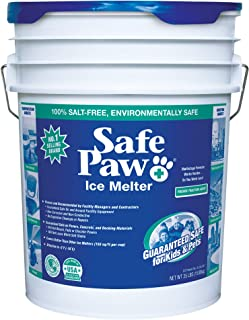 Safe Paw, Child Plant Dog Paw & Pet Safe Ice Melt, Vet Approved, 100% Salt Free, Non-Toxic, No Concrete Damage, Fast Actin...