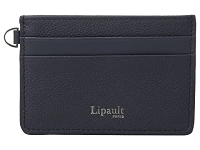 Lipault Paris Plume Elegance Leather Card Holder (Navy) Credit card Wallet