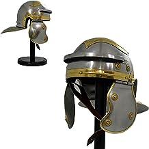 Replica nautica Hub medievale Roman Helmet Warrior Armor Metal Red Plume con fodera interna