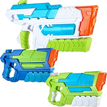 JOYIN 2 Aqua Phaser and 1 Hydro Enforcer High Capacity Water Gun Super Water Soaker Blaster Squirt Toy Swimming Pool Beach Sand Water Fighting Toy