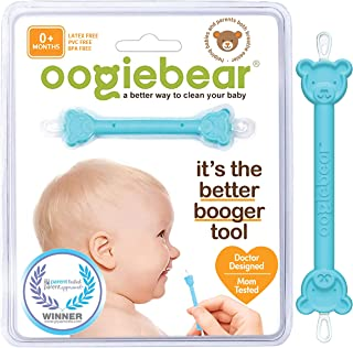 oogiebear - Curved Scoop and Loop - The Safe Baby Nasal Booger and Ear Cleaner - Baby Shower Registry Essential | Easy Bab...