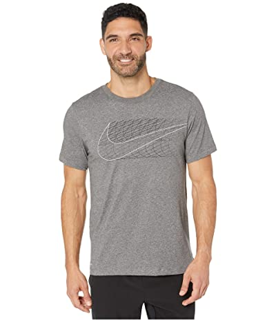 Nike Dry Tee Dri-FIT Cotton Alt Swoosh (Charcoal Heather) Men