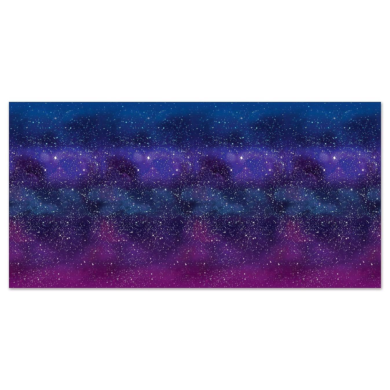 Beistle 59935 Galaxy Backdrop, 4' x 30', Multicolor