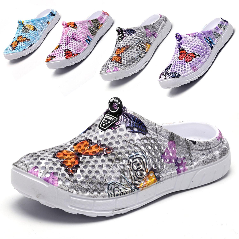 Salabomia Sugar Skull Garden Clogs Shoes Womens Mens Mesh Quick Drying Slippers Beach Sandals