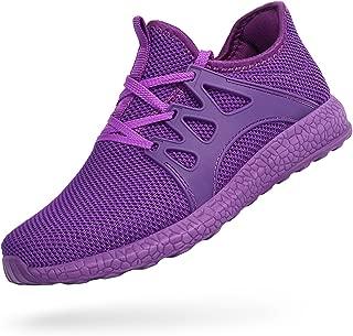 Feetmat Womens Golf Shoes Ultra Lightweight Mesh Athletic Walking Running Shoes Purple 6