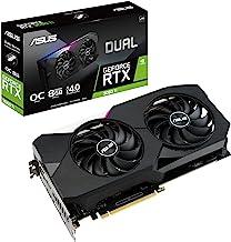 ASUS Dual NVIDIA GeForce RTX 3060 Ti V2 OC Edition Gaming Graphics Card (PCIe 4.0, 8GB GDDR6 Memory, LHR, HDMI 2.1, Displa...