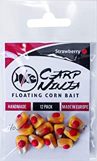 Carp Ninja Handmade Floating Carp Bait with Real Corn 12 Pack
