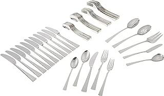Gorham Biscayne 65-Piece Stainless Flatware Set, Silver - 818552