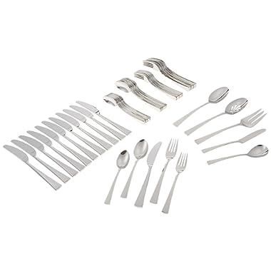 Gorham 871430 Biscayne 65-Piece Stainless Flatware Set, Silver