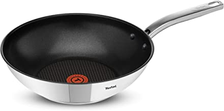 Tefal Intuition V2 - Wokpan 28 cm- A7031904, Stainless Steel, Silver