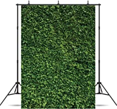 Dudaacvt 5x7FT Green Leaves Photography Backdrops Vinyl Nature Backdrop Birthday Background for Birthday Party Seamless Photo Booth Prop Backdrop D058
