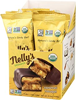 Nelly's Organics Bar (Pack of 9) (Caramel Nougat)