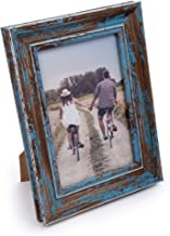 CTG, Truu Design Collection, Distressed Wooden Picture Frame, 4 X 6 Inches, Blue