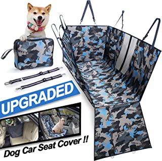 Dog Car Seat Cover, Multifunctional using, 900D Oxford Waterproof Dog Back Seat Covers Protector with Mesh Window- Nonslip...