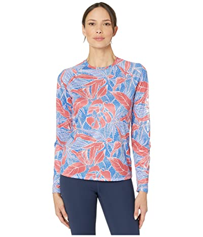 Columbia Super Tidal Tee Long Sleeve Shirt (Vivid Blue Dotty Palms) Women
