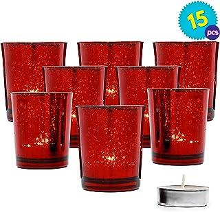 Schreiller d/écoratif en Verre pour Bougie Chauffe-Plat Rouge//3 pi/èces /Ø 5,5 cm Hauteur 6,5 cm