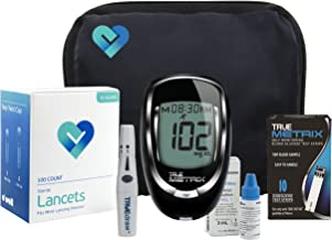 OWell TrueMetrix Blood Glucose Testing Kit. Includes: Meter, 10 Test Strips, 10 Lancets, Adjustable Lancing Device, Control Solution, Owners Log Book & Manual