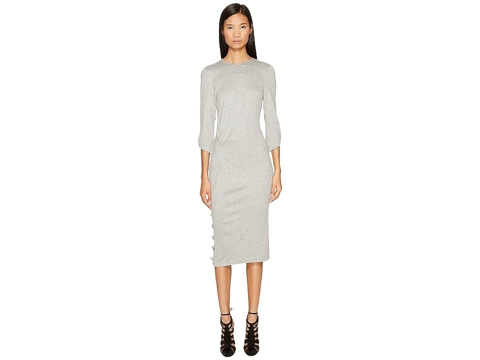 Prabal Gurung Jersey 3/4 Sleeve Dress (Grey) Women