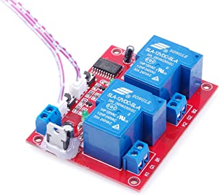 KNACRO DC 12V 2-Channel Self-Latching Relay Module One-Button Bistable Switch One-Button Start/Stop High-Level Trigger (DC 12V 30A 2-Channel)