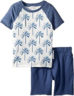 Palm Tree Raglan Set (Little Kids/Big Kids)