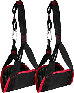 Sportster Ab Straps, Ab Straps for Pull Up Bar Adjustable Pair Hanging Abdominal Slings Rip-Resistant and Padded for Home Gym Abdominal Training and Pull Up Bar with Heavy Duty Padding and Anti-Chafe