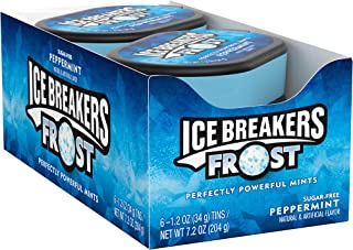 Ice Breakers Holiday Candy, Frost Sugar Free Mints, Peppermint, 1.2 Ounce (Pack of 6)