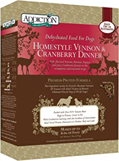 Addiction Grain Free Dehydrated Dog Food Venison & Cranberry