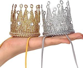 پیش بندهای الاستیک تاج تاج ، تاج شاهزاده خانم تیارا ، کلاه تولد (نقره طلا)