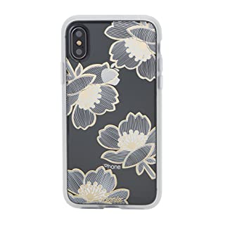 Sonix Bellflower Case for iPhone X/XS [Military Drop Test Certified] Women's Protective Gold Flower Floral Clear Case for Apple iPhone X, iPhone Xs