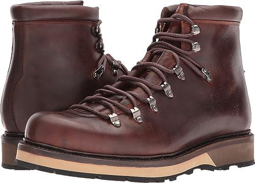FRYE Men& 039;s Woodson Arctic Grip rotwood Smooth Full Grün Soft Vintage Leather 11 D US