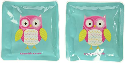 Crocodile Creek Girls Eco Reusable Owl Ice Packs for Lunch Boxes (Set of 2), Teal, 5""