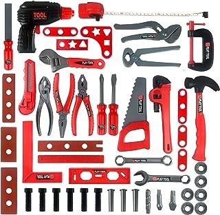 Juego de herramientas Kidami Deluxe 52Kids Toy Tool Set, construcción Sets Pretend Play juguetes con un práctico Bolsa de almacenamiento