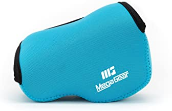 MegaGear ''Ultra Light'' Neoprene Camera Case Bag with Carabiner for SONY NEX5, NEX5N, NEX5R with 16-50 LENS (Blue)
