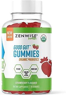USDA Organic Probiotic Gummies - Clinically Studied Immune System Support - 5 Billion CFU of Vegan Digestive Probiotics - ...
