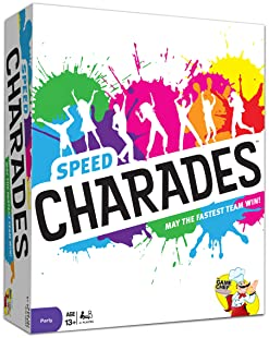 Charades Party Game – Speed Charades Board Game - Face-Paced Party Game - Includes 1400 Charades - Perfect for Groups...