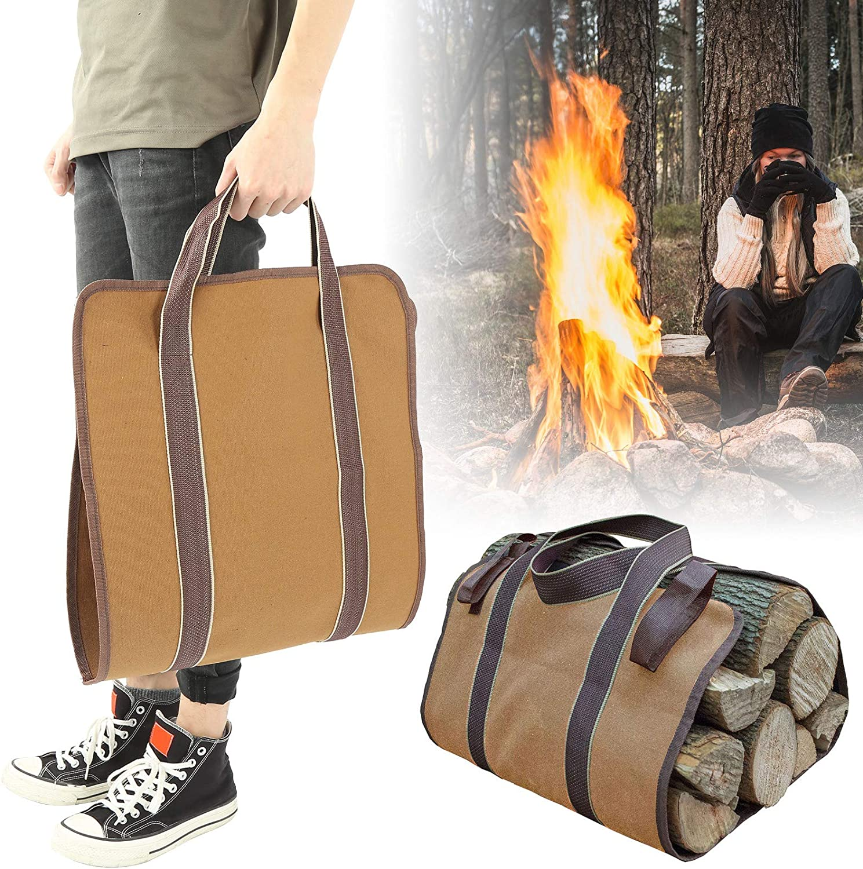 Fybida 5% OFF Dirt Proof Logging Bag Colorado Springs Mall for Women Fireplace Men P Fire