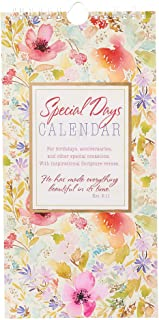 He has Made Everything Beautiful Pink Floral Special Days Calendar - Ecclesiastes 3:11, Perpetual Birthday and Anniversary Calendar