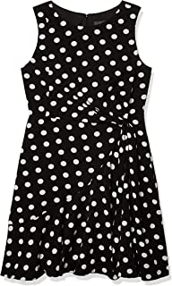 Women's Dot Printed Fit and Flare