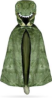 Great Pretenders 56705, T-Rex Hooded Cape, US Size 4-5 Green