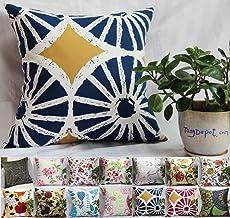Girls PinkGrey StarPolka DotCheckered 26\u201d x 26\u201d Decorative Euro Sham Soft Cotton Nursery Throw Pillow Cover by ULLENBOOM