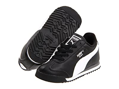 Puma Kids Roma Basic Kids (Toddler/Little Kid/Big Kid) (Black/White/Puma Silver) Boys Shoes