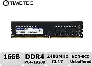 Timetec Hynix IC 16GB DDR4 2400MHz PC4-19200 Non-ECC Unbuffered 1.2V CL16 2Rx8 Dual Rank 288 Pin UDIMM Desktop PC Computer Memory Ram Module Upgrade (16GB)